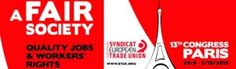REDACCIÓN SINDICAL MADRID: El Congreso de la CES tendrá lugar en París del 29...
