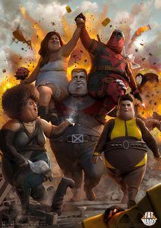A Fun Project of Fat Superheroes Digital Art Paintings by Carlos Dattoli Batman, Avengers Infinity War, Pics Art, Marvel Movies, Captain Marvel, Marvel Avengers, Drawing Sketches, Drawings, Fun Projects