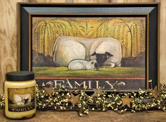 Love this Sheep Family Print by artist Jami Boldy! Primitive Folk Art, Primitive Crafts, Family Print, Diy Projects To Try, Prints For Sale, Primitives, Country Decor, Diy Art, Sheep