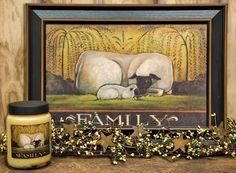 Sheep Family Print