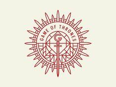 Game of Thrones Badge by Jonathan Schubert