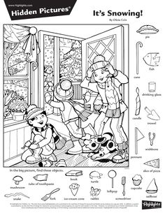 Below you will find some free printable hidden pictures, but for more - make sure to check out all the great hidden pictures books from Hidden Picture Puzzles Hidden Picture Games, Hidden Picture Puzzles, Hidden Object Puzzles, Hidden Objects, Find Objects, English Activities, Preschool Activities, Colouring Pages, Coloring Books