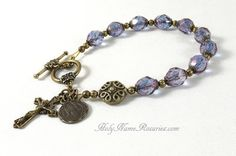 St Benedict Rosary Bracelet Chaplet Single by TheRosaryWorks