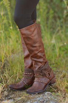 awesome Not To Be Forgotten Boots - Tan from Closet Candy Boutique. Boot Over The Knee, Over Boots, Cowgirl Boots, Riding Boots, Botas Boho, Heeled Boots, Bootie Boots, Cute Boots, Snow Boots