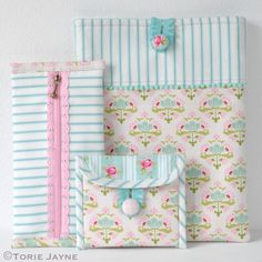 Pretty Sewn Accessories -free tutorial and free downloadable patterns