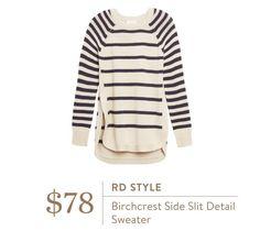 Stitch Fix RD Style Birchcrest Side Slit Detail Sweater