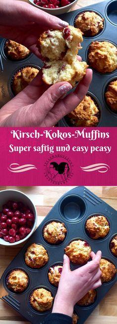 Saftige Kirsch Kokos Muffins