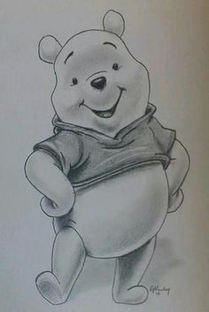 Disney Art Sketches Pooh Bear 57 New Ideas Pencil Drawing Tutorials, Pencil Art Drawings, Art Drawings Sketches, Cute Drawings, Drawing Ideas, Realistic Pencil Drawings, Drawing Tips, Winnie Pooh Dibujo, Winnie The Pooh Drawing
