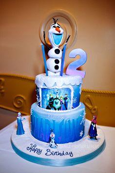 Frozen Theme Birthday Party // Frozen Theme Birthday Cake // Disneyland // Goofy's Kitchen Birthday Party //Olaf