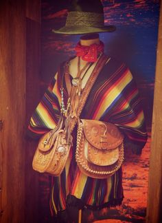 Mexican tooled leather bags