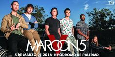 ¡Vuelve @Maroon5 a la Argentina! 5/3/16, conseguí tu ticket ahora en http://www.ticketek.com.ar/maroon-5/hipodromo-de-palermo… #Maroon5Arg