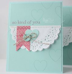 Love this card that my friend Heather and I made using the Hearts a Flutter stamp set and framelit bundle