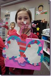 cute valentine card holder bags and classroom party ideas