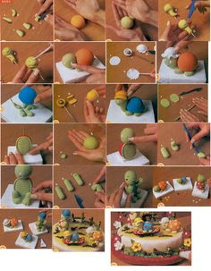 Step by Step Polymer Clay Turtle Would Be Great As A Necklace Pendant