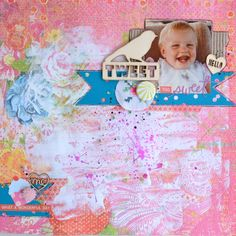 Paper and Pins. my handmade journey: 123 Challenge. September is all about PINK My Scrapbook, Scrapbook Layouts, Embellishments, September, Challenges, Journey, Kids Rugs, Paper, Day