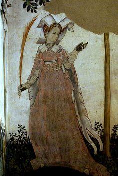 castello della manta fresco   Castello della Manta, Salone Baronale, Clemenzia Provana, Gemahlin des ...
