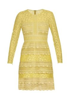 Tiered French-lace dress | Burberry Prorsum