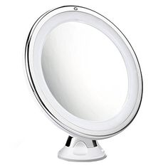 Cymas 7x Magnifying Makeup Mirror 15 Min Auto Turn Off 360 Degree Rotating Dimmable Light Bathroom Mirrors Portable Travel Vanity Mirror *** Read more reviews of the product by visiting the link on the image.
