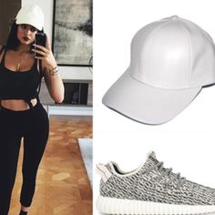 Spotted while shopping on Poshmark: Kylie Jenner White Leather Baseball Cap…
