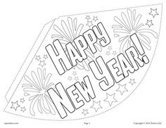 free printable new years party hat activity happy new year