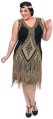 Unique Vintage Plus Size Green & Silver Embroidered Somerset Flapper Dress Funny Fashion, 20s Fashion, Big Girl Fashion, Art Deco Fashion, Vintage Fashion, Plus Size Flapper Dress, Flapper Dresses, 1920 Style, 1920s Dress