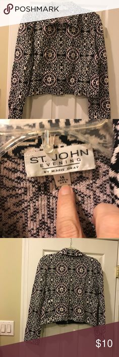 St John Knit jacket - size 14 Size 14 St John Knit jacket for sale. Bought on eBay and never worn. Paid $350 for it. Selling for $100. St. John Jackets & Coats