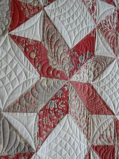 9 Patch Star by Edna807, via -- Need to get a curved crosshatch ruler!