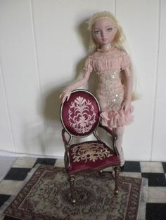 1:4 scale walnut wiht gilt trim, Bespaq Louis XV armchair on ebay now ends August 4th
