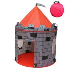 Indoor & Outdoor Children Playhouse Castle Kids Play Tent Durable & Portable with Carrying Bag Perfect Gift for Boys & Girls