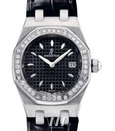 67621ST.ZZ.D002CR.01, Audemars Piguet часы Royal Oak Lady Quartz - швейцарские женские часы наручные, черные, белые