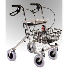 Andador plegable rollator Color gris  #ortopedia #orthopedia #walkers #mobilitywalkers #andadores #adultos #mayores #terceraedad #salud #health #ortopediaplus