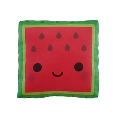 Watermelon Cushion; could make for coasters for a picnic table