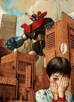 Mazinger Z – Illustration de Rory Kurtz. que pasada de ilustración :-))))