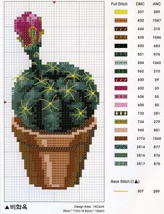 50 Ideas for embroidery cactus punto cruz Cactus Cross Stitch, Mini Cross Stitch, Cross Stitch Needles, Cross Stitch Flowers, Modern Cross Stitch Patterns, Cross Stitch Designs, Cross Stitching, Cross Stitch Embroidery, Flower Chart