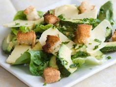 Spinach-Avocado Caesar Salad