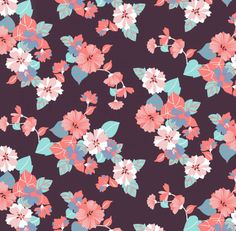 Knit Fabric - Modern Reflection Floral - BOLT by Girl Charlee
