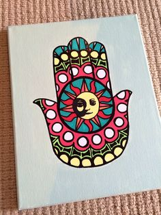 zta canvas big little / zta canvas Cute Canvas Paintings, Mini Canvas Art, Diy Canvas, Acrylic Canvas, Canvas Ideas, Trippy Painting, Diy Painting, Hamsa Painting, Trippy Drawings