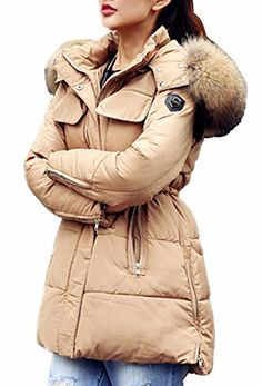 JY Women's New Winter Thick Slim Long Quilted Down Jacket * Want to know more, click on the image.