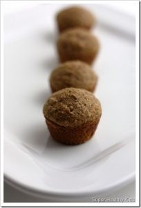 Bran Muffin Bites for Your Lil Sweetheart | Recipes  [We made these with vanilla soy milk instead of buttermilk and they are delicious! The Bug loves them - and I do, too! This recipe made 6 dozen mini muffins, so we're set on morning snack for, oh, 6 dozen days or so. :)