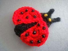 Вязание крючком: Аппликация Божья коровка Applique Ladybug  Crochet...