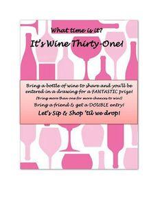 Wine party invite.