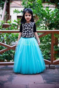 Frocks For Girls, Dresses Kids Girl, Girls Party Dress, Kids Outfits, Kids Indian Wear, Kids Ethnic Wear, Kids Lehenga Choli, Kids Blouse Designs, Kids Party Wear