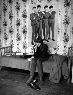Mod and Beatles Poster, London, early 60-s by Harold Chapman