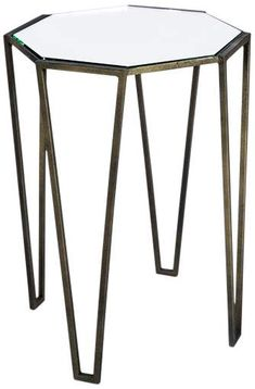 "Allex 18"" Wide Antique Bronze Octagonal Accent Table A Table, Dining Table, Metal Accent Table, Bedroom Table, Table Sizes, Industrial Table, Living Spaces, Bronze, Table Decorations"