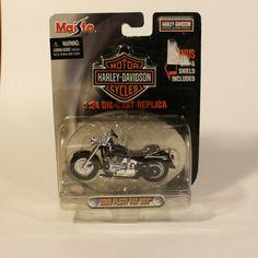 2000 Harley-Davidson FLSTF Fat Boy Black/Silver Maisto 1:24