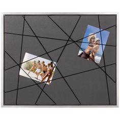 Brio pêle-mêle élastique fond et élastique Noirs et cadre photo Détroit Argent.