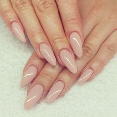 Nude almond nails
