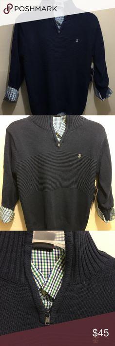 Preppy Navy Blue Button Down 2PCS Set Preppy Navy Blue Button Down 2PCS Shirt Set For Boys Izod Matching Sets