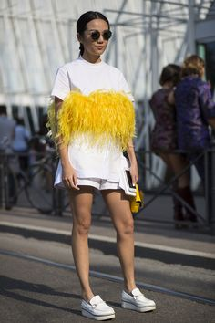 We've selected the most coveted Milan street style, fresh from the SS16 shows.
