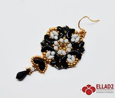 New beading tutorial with Arcos and Minos Par Puca beads. Beading Tutorial for Lira Earrings is very detailed, easy to follow, step by step.